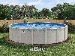 21'x54 Silver Springs Round Pool with Chateau Beaded Liner & Skimmer Made in USA