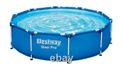 21in1 SWIMMING POOL BESTWAY 366cm 12ft Above Ground Round Garden Pool + PUMP SET
