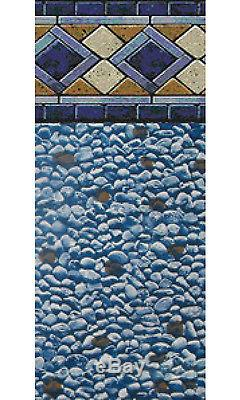 21x48 Ft Round Unibead Mosaic Diamond Above Ground Swimming Pool Liner-25 Gauge