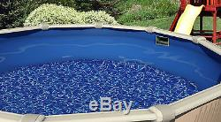 24' FT Round Overlap Swirl 25 Gauge Above Ground Swimming Pool Liner with Coping