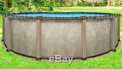 24 Round 54 Saltwater LX Above Ground Salt Swimming Pool with 25 Gauge Liner