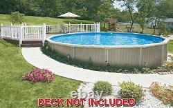 24' x 52 ALUMINUM Above Ground swimming Pool, Liner, Skimmer SEMI IN-GROUND