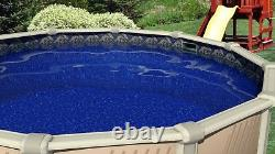 24' x 52 Round Manor Beaded Swimming Pool Liner For Esther Williams 25 Gauge