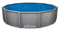 24' x 52 Round Southport GLX Above Ground Swimming Pool with Blue Liner & Skimmer