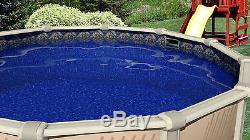 24'x48 Ft Round Esther William Beaded Above Ground Swimming Pool Liner-25 Gauge