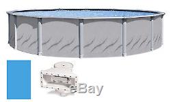 24'x52 Ft Round Galleria Above Ground Swimming Pool with Liner & Skimmer Kit