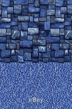 24'x52 Round Beaded Blue Slate Above ground Swimming Pool Liner 25 Gauge
