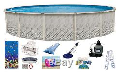 24'x52 Round MEADOWS Above Ground Swimming Pool with Caribbean Liner & Kit Pack