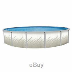 24'x52 Whispering Springs Round Pool with Liberty Print Unibead Liner and Skimmer