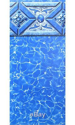 24'x54 Ft Round Beaded Prism Above Ground Swimming Pool Liner-20 Gauge