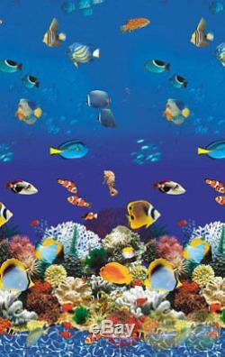 24ft Round Caribbean Aquarium 20yr Overlap Above Ground Swimming Pool Liner