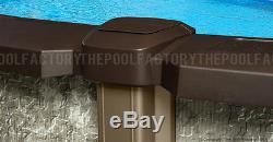 27 Round 54 Saltwater LX Above Ground Salt Swimming Pool with 25 Gauge Liner