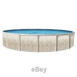 27' x 52 ROUND Fiesta Aboveground Swimming Pool & 20 Mil Blue Liner 40 Yr Warr
