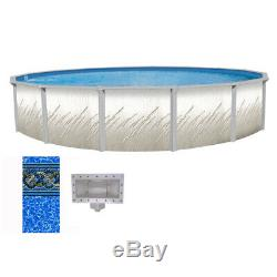 27' x 52 Whispering Springs Round Pool with Mystri Gold Unibead Liner & Skimmer