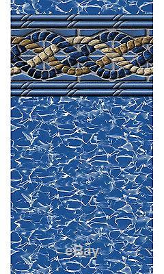 27'x48 Round Unibead Mystri Gold Above Ground Swimming Pool Liner-25 Gauge