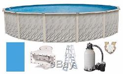 27'x52 Above Ground Round Meadows Swimming Pool with Liner, Ladder & Filter Kit