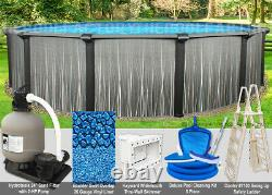 27'x52 Boreal Round Above Ground Swimming Pool Package