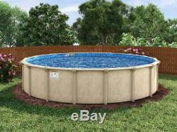 27'x52 Cedar Key Round Pool with Chateau Beaded Liner & Skimmer Made in USA