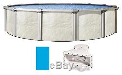 27'x52 Ft Round Fallston Above Ground Swimming Pool with Liner & Skimmer Kit