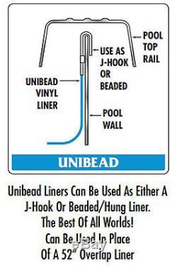 27'x52 Ft Round Unibead Boulder Swirl Above Ground Swimming Pool Liner-25 Gauge