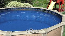 27'x52 Round Unibead Laguna Tile Above Ground Swimming Pool Liner-20 Gauge