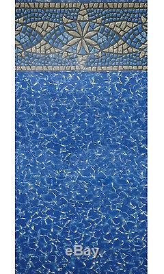 27'x52 Round Unibead New Myriad Above Ground Swimming Pool Liner-25 Gauge