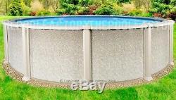 27'x54 Saltwater 8000 Round Above Ground Salt Swimming Pool with 25 Gauge Liner