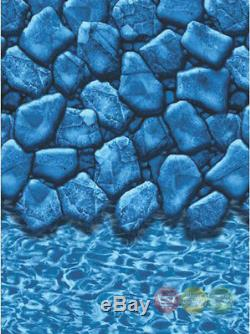 27ft Round Boulder 20yr Overlap Above Ground Swimming Pool Liner
