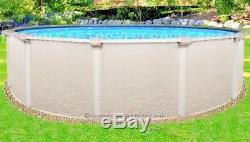 27x52 Round Saltwater 5000 Above Ground Salt Swimming Pool with 25 Gauge Liner