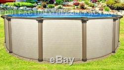 27x54 Melenia Round Above Ground Swimming Pool with 25 Gauge Liner