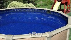 30' x 54 Round Unibead Crystal Tile Above Ground Swimming Pool Liner 25 Gauge