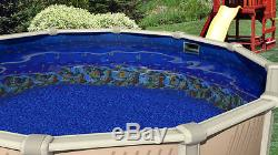 30'x52 Round Beaded Caribbean Above Ground Swimming Pool Liner-25 Gauge