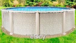 30'x54 Saltwater 8000 Round Above Ground Salt Swimming Pool with 25 Gauge Liner
