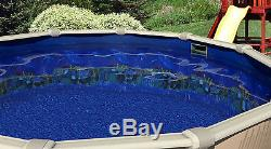 33' Ft Round Overlap Antilles Dolphin Above Ground Swimming Pool Liner-20 Gauge