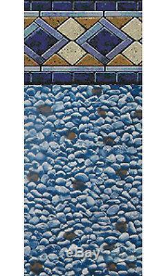 33x52 Ft Round Unibead Mosaic Diamond Above Ground Swimming Pool Liner-25 Gauge
