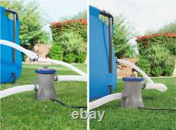 7in1 BestWay SWIMMING POOL 300 x 201 Rectangular Garden Above Ground Pool + PUMP