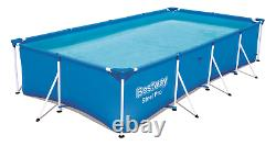 9in1 SWIMMING POOL BESTWAY 400cm x 211cm x 81cm Above Ground Square Pool + PATCH