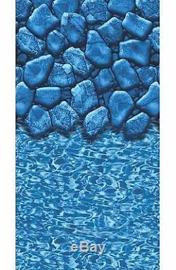 Above Ground 18'x33'x52 Oval Meadow Swimming Pool with Boulder Liner Step Filter