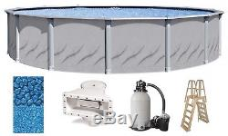 Above Ground 18'x52 Round GALLERIA Swimming Pool with Liner, Ladder & Filter Kit