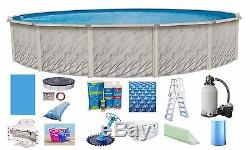 Above Ground 18'x52 Round Meadows Swimming Pool with Liner, Ladder & Filter Kit