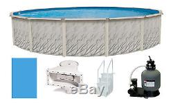 Above Ground 18'x52 Round Meadows Swimming Pool with Liner, Step, Filter Kit