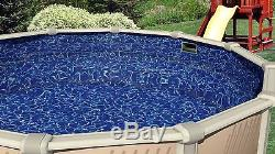 Above Ground 20 Gauge Round Sunlight Swimming Pool Overlap Liners with Gasket Kit