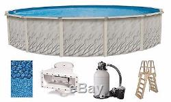 Above Ground 24'x52 Round MEADOW Swimming Pool with Liner, Ladder & Filter Kit