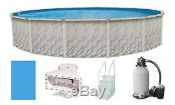 Above Ground 24'x52 Round Meadows Swimming Pool with Liner, Step, Filter Kit
