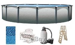 Above Ground 24'x52 Round Reprieve Swimming Pool with Liner, Ladder & Filter Kit