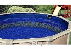 Above Ground 25 Gauge Oval Caribbean Swimming Pool Overlap Liners with Gasket Kit