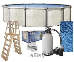 Above Ground 27'x52 Round FALLSTON Swimming Pool with Liner, Ladder & Filter Kit