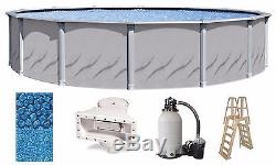 Above Ground 27'x52 Round GALLERIA Swimming Pool with Liner, Ladder & Filter Kit