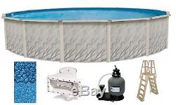 Above Ground 30'x52 Round MEADOWS Swimming Pool with Liner, Ladder & Filter Kit