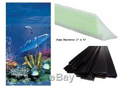 Above Ground Antilles Swimming Pool Overlap Liner with Cove Kit & Coping Strips